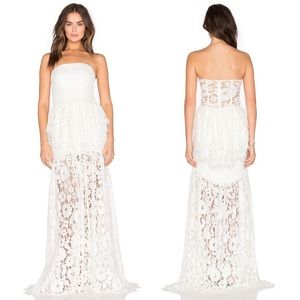 Alexis Sylvia White Lace Gown Formal Wedding